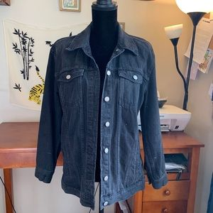 Madewell Jean Jacket in Washed Black
